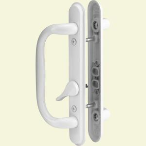Prime line sliding door handle set 10 in pull keyed white c sliding door handle set white planetlyrics Images
