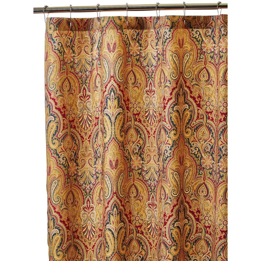 Home decorators collection trophy room 72 in shower curtain in fresco 9849100110 the home depot Home decorators collection valance