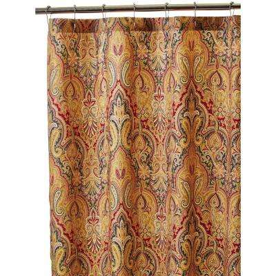 Trophy Room 72 in. Shower Curtain in Fresco