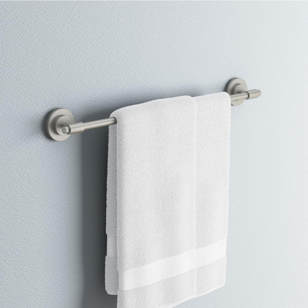 ISO 24 in. Towel Bar in Spot Resist Brushed Nickel