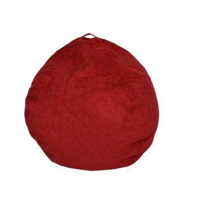 Red Microsuede Bean Bag