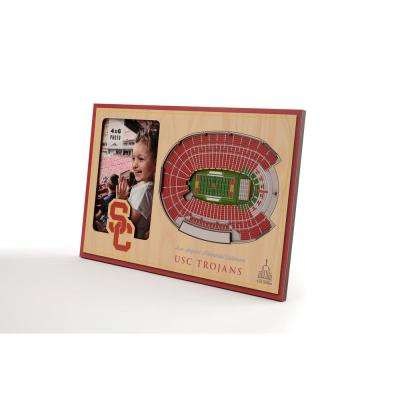 NCAA USC Trojans Team Colored 3D StadiumView with 4 in. x 6 in. Picture Frame