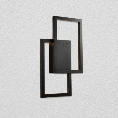 Radium 11.75 in. Black Integrated LED Sconce