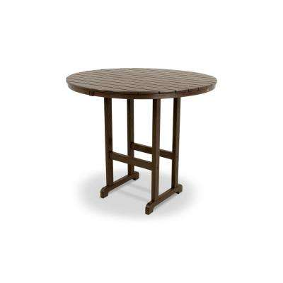 Monterey Bay Vintage Lantern 48 in. Round Patio Bar Table