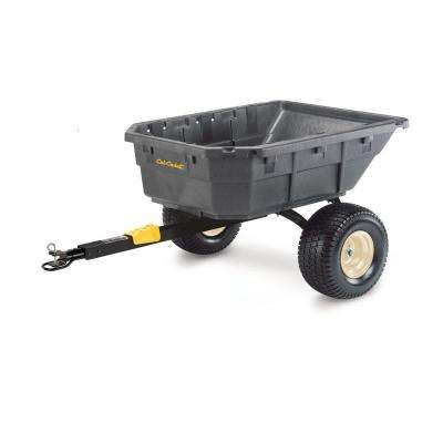 12.5 cu. ft. Molded Poly Uility Vehicle and Riding Mower Dump Cart