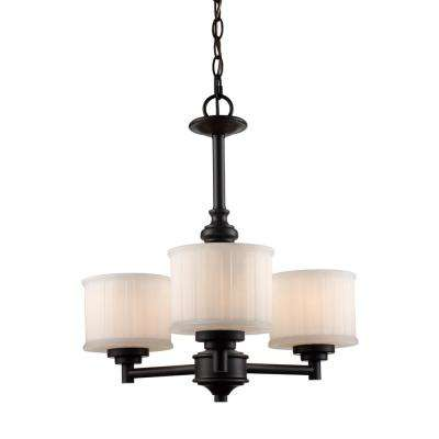 Cahill 3-Light Rubbed Oil Bronze Chandelier