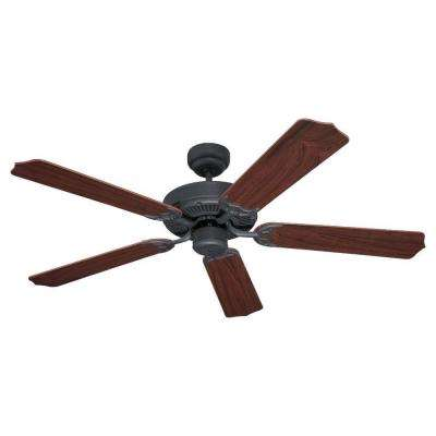 Quality Max 52 in. Weathered Iron Ceiling Fan