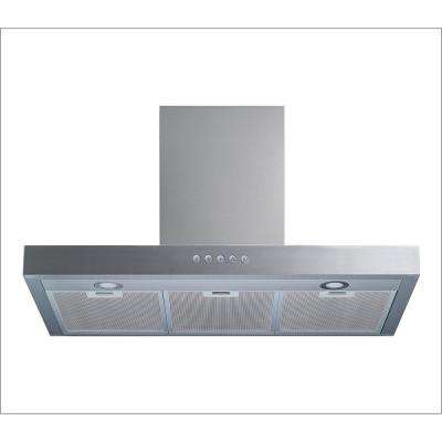 36 in. Convertible Wall Mount Range Hood in Stainless Steel with Aluminum Filter, LED Lights and Push Sensor Control