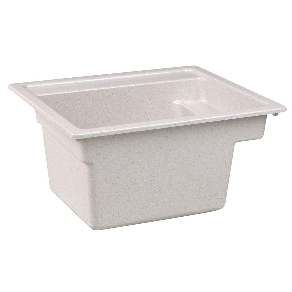 MUSTEE Vector 22 In. X 25 In. Fiberglass Self Rimming MultiTask Sink In