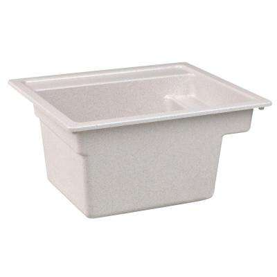 Vector 22 in. x 25 in. Fiberglass Self-Rimming MultiTask Sink in Prairie Drift