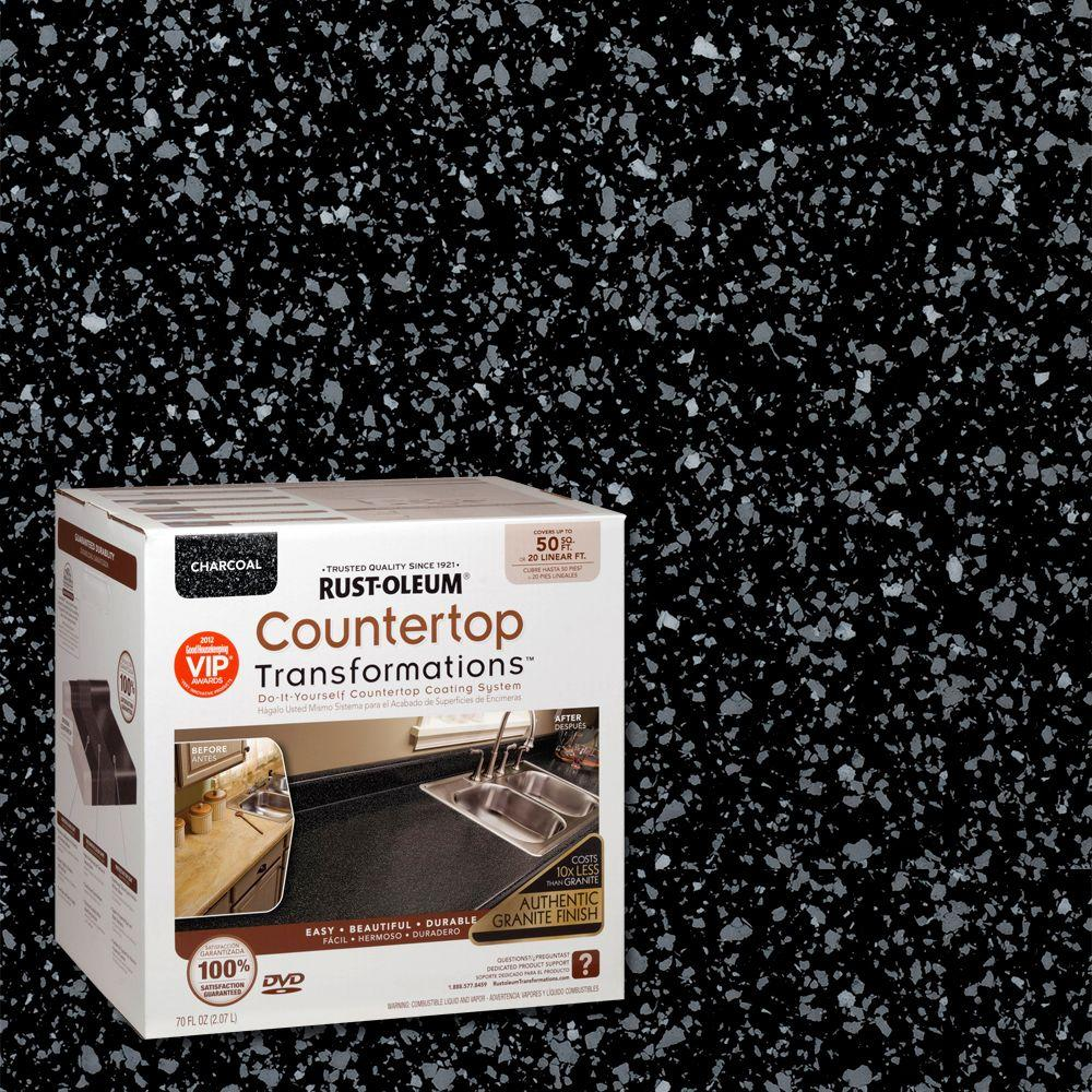 Rust-Oleum Transformations 70 oz. Charcoal Large Countertop Kit ...