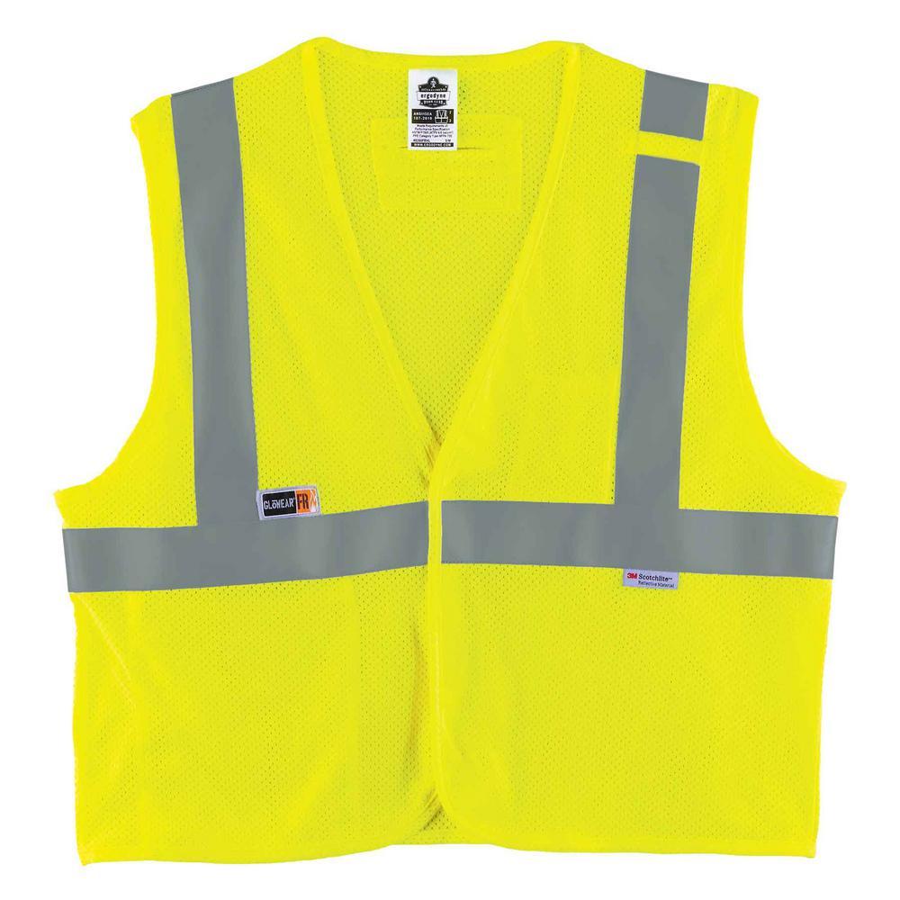 GLoWEAR S/M Lime Hi-Vis Type R Class 2 FR Modacrylic Vest