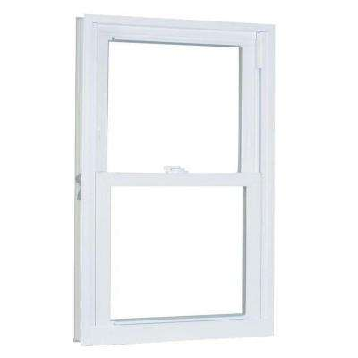 33.75 in. x 57.25 in. 70 Series Pro Double Hung White Vinyl Window with Buck Frame