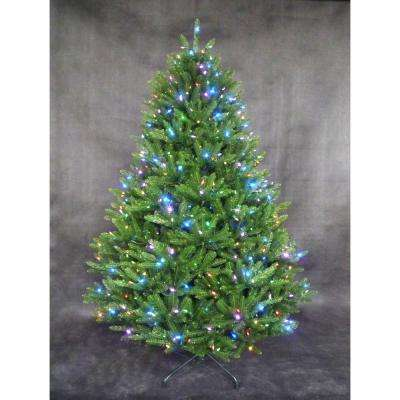 7.5 ft. Pre-Lit LED California Cedar Artificial Tree with RGB Color-Changing Lights