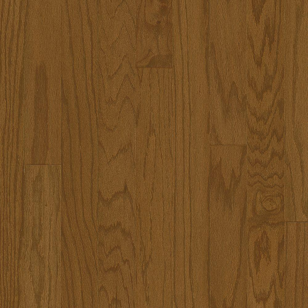 Bruce Take Home Sample-Plano Oak Saddle 3/8 in. Thick x 5 in. Wide Engineered Hardwood Flooring- 5 in. x 7 in.