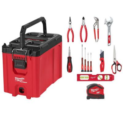 PACKOUT 10 in. Compact Tool Box and Hand Tool Set (13-Piece)