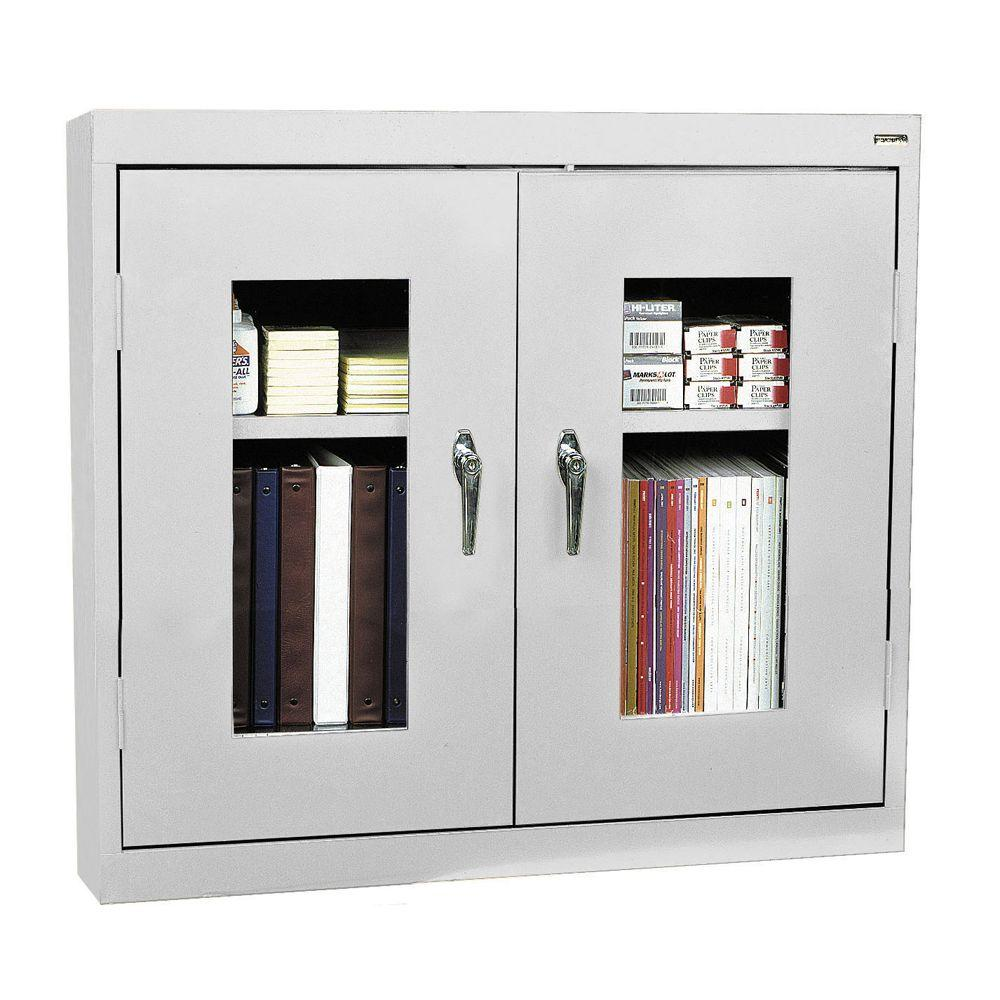 Sandusky 30 in. H x 36 in. W x 12 in. D Clear View Wall Cabinet in Dove Grey