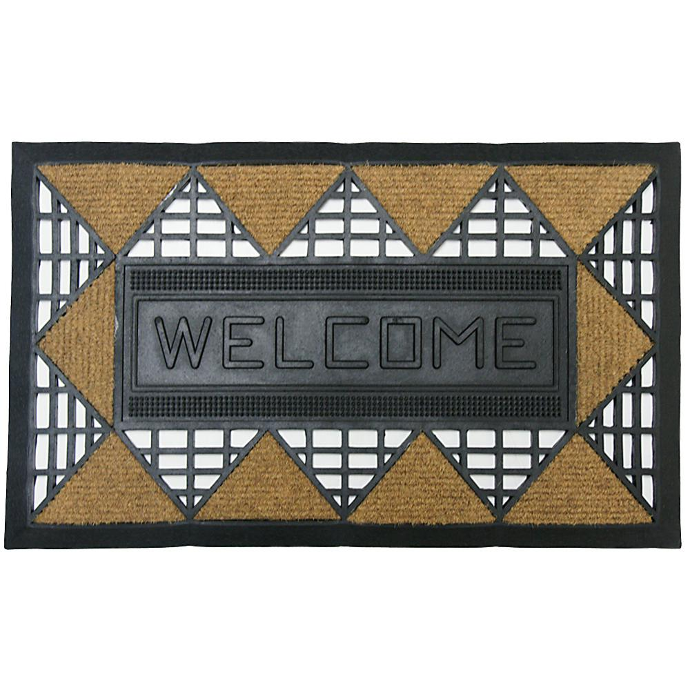 Rubber-Cal Welcome Back 18 in. x 30 in. Rubber Entrance Mat