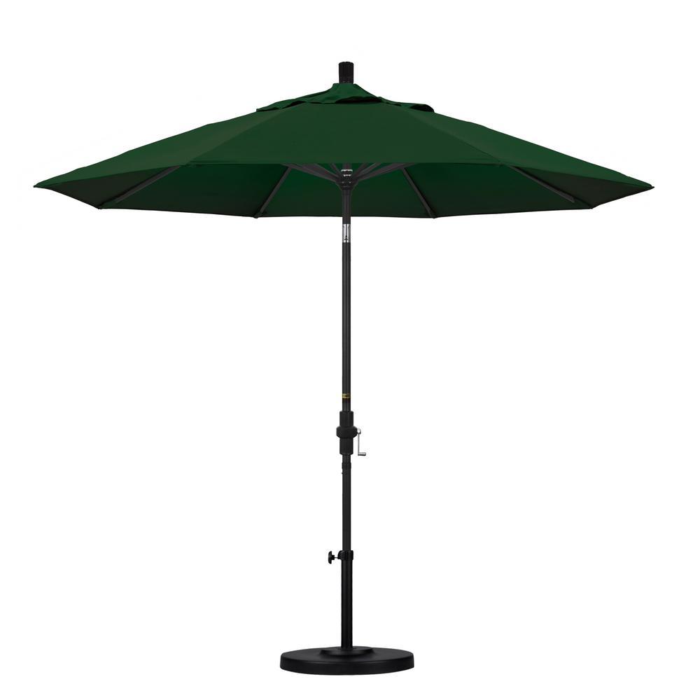 California Umbrella 9 Ft Aluminum Collar Tilt Patio Umbrella In Hunter Green Pacifica Gscu908302 Sa46 The Home Depot