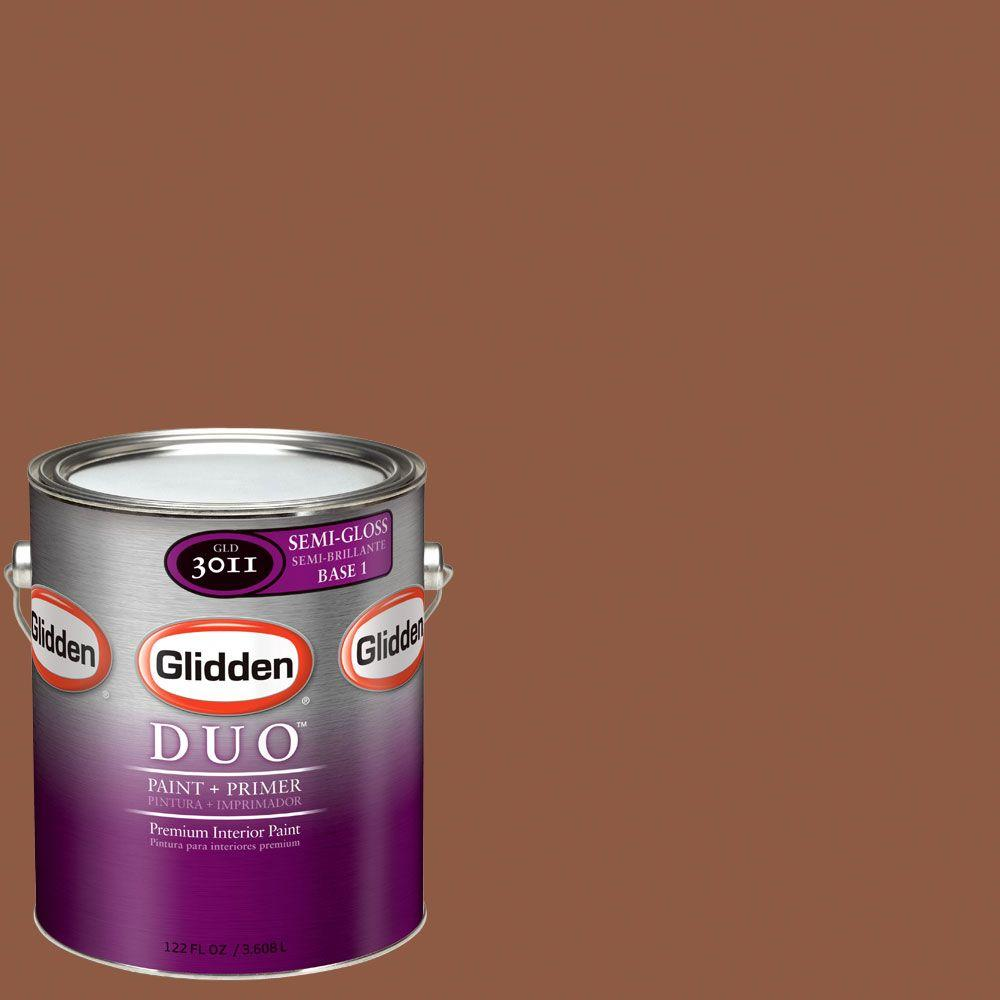 Glidden DUO Martha Stewart Living 1-gal. #MSL052-01F October Leaf Semi-Gloss Interior Paint with Primer-DISCONTINUED