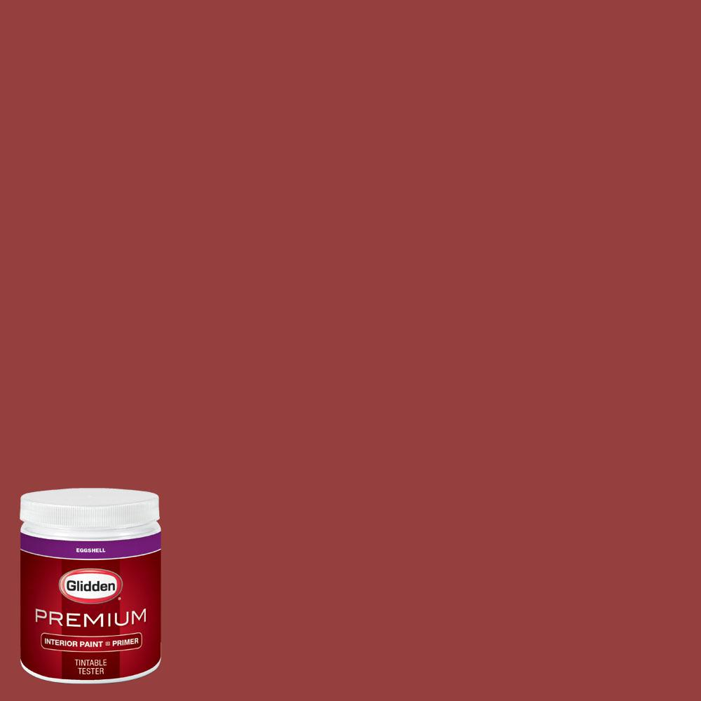 Glidden Premium 8 oz. #wnba-129D Seattle Storm Red Eggshell Interior Paint with Primer