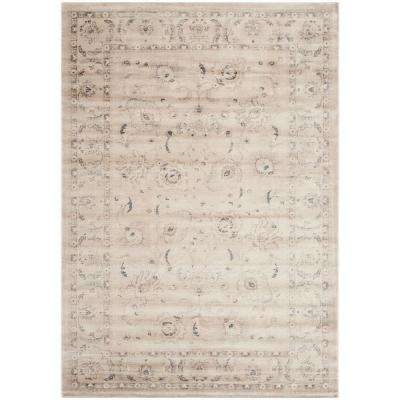 Vintage Light Gray/Ivory 5 ft. 1 in. x 7 ft. 7 in. Area Rug