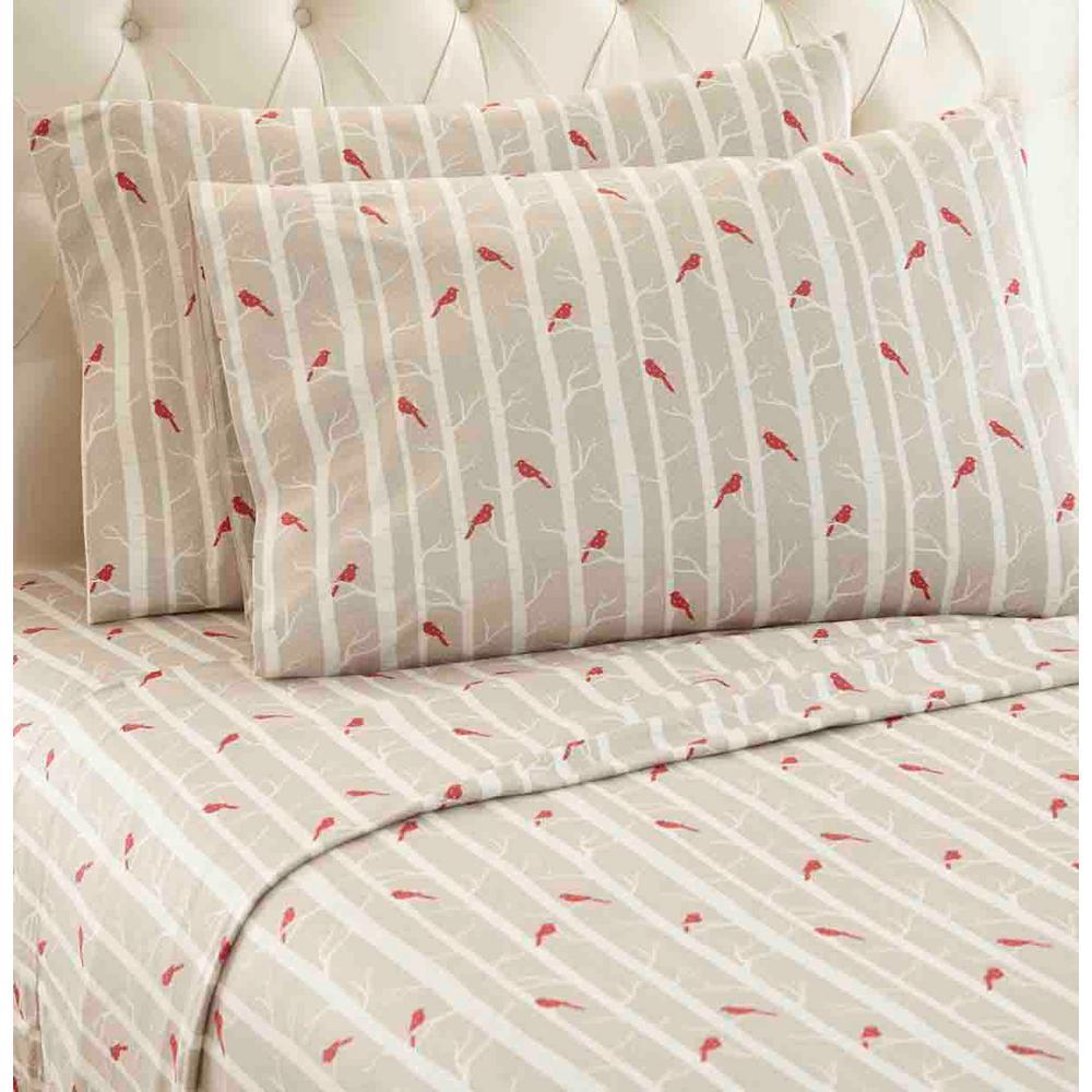 4-Piece Cardinals Queen Polyester Sheet Set
