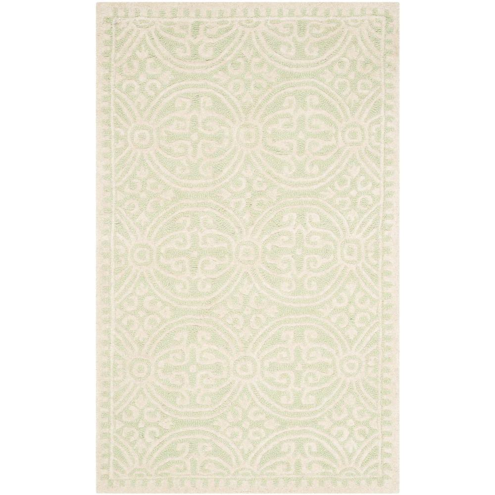 Cambridge Light Green/Ivory 3 ft. x 5 ft. Area Rug