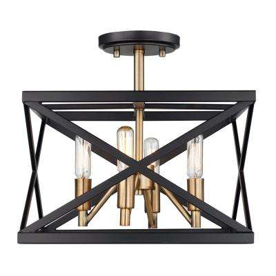 Ackerman 4 Light Rubbed Oil Bronze Antique Br Semi Flush Mount