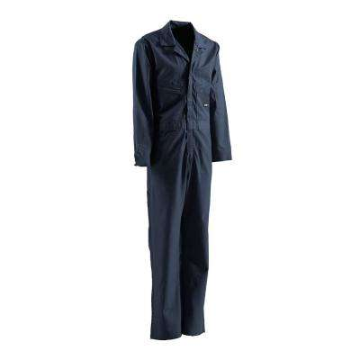 Men's 58 in. x 36 in. Navy Cotton and Nylon FR Deluxe Coverall