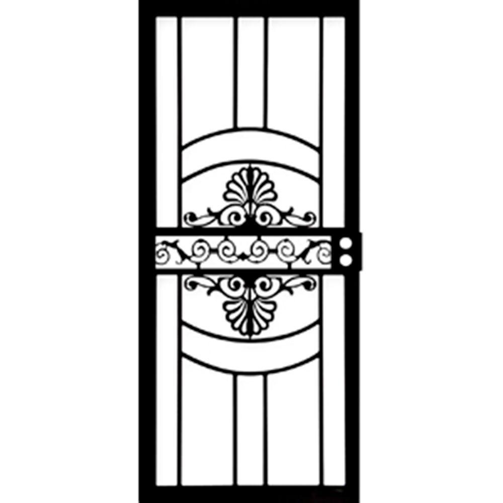 32 in. x 80 in. 437 Series Black Venus Security Door