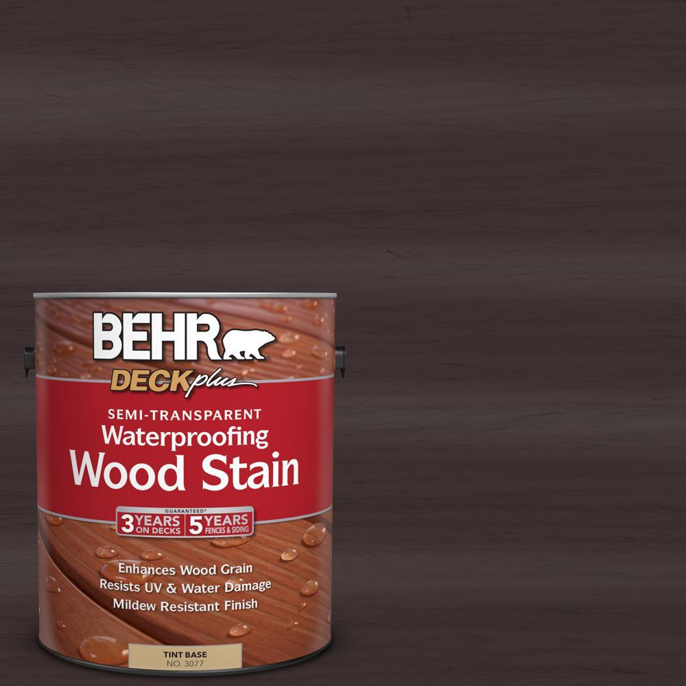 1 gal. #ST-104 Cordovan Brown Semi-Transparent Waterproofing Wood Stain