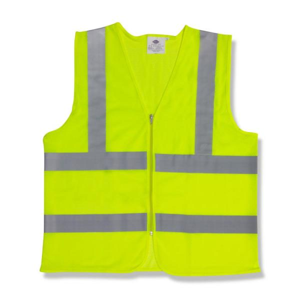 Extra-Large Flame Resistant Class 2 High Visibility 1 Pocket Safety Vest with Pocket and Zipper Closure