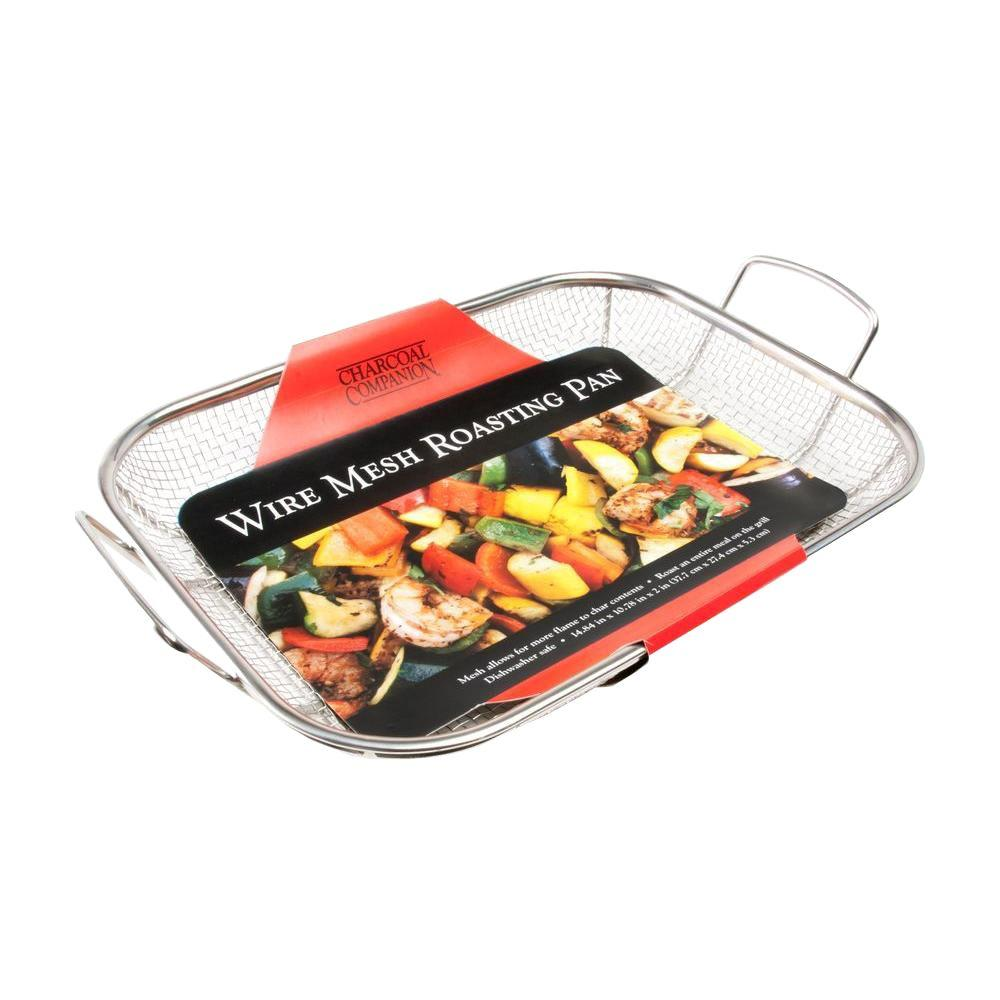 Charcoal Companion Stainless Steel Wire Mesh Roasting Pan...