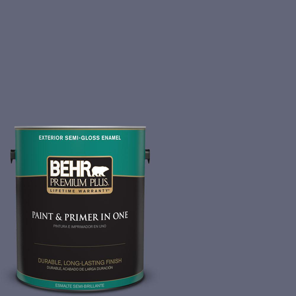 1-gal. #630F-6 Violet Evening Semi-Gloss Enamel Exterior Paint