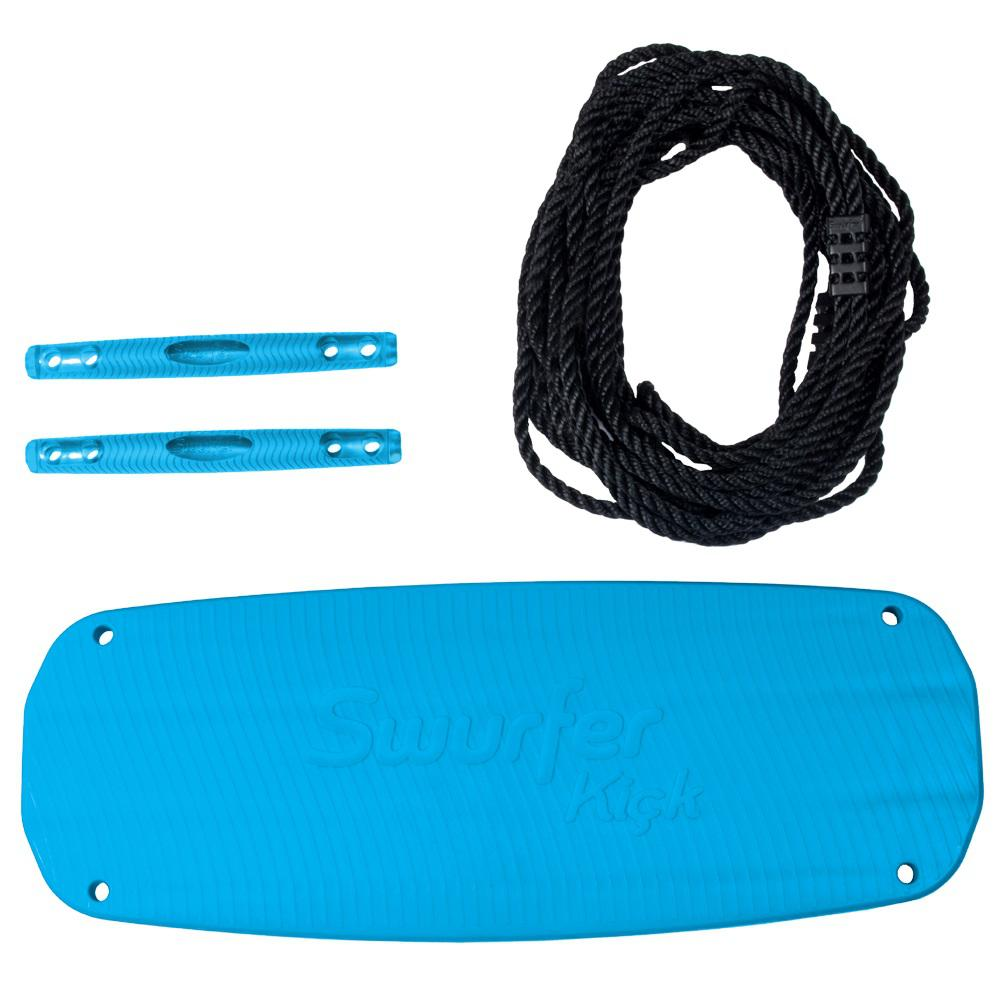 Swurfer Kick Blue Stand Up Tree Swing with Rope