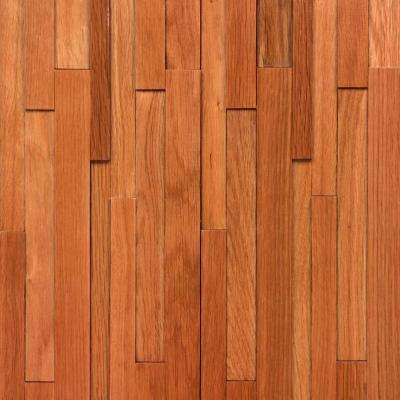 Take Home Sample - Deco Strips Gunstock Engineered Hardwood Wall Strips - 5 in. x 7 in.