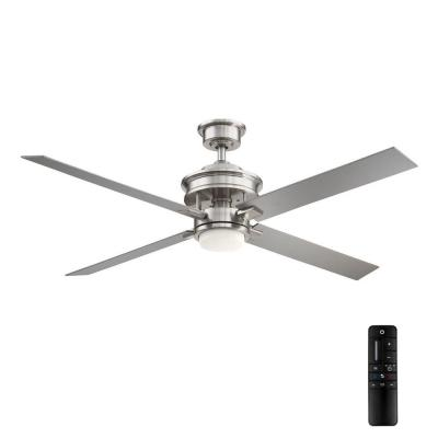 Lincolnshire 60 in. LED Brushed Nickel Ceiling Fan with Light