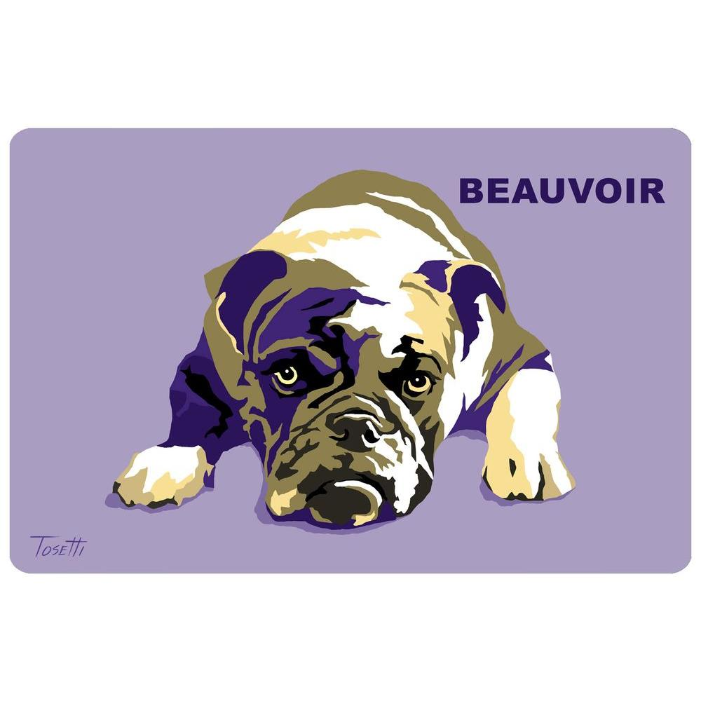 Bungalow Flooring Printed Bulldog 40 17.5 in. x 26.5 in. Mat
