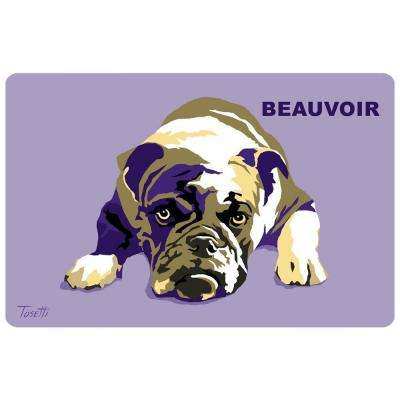 Printed Bulldog 40 17.5 in. x 26.5 in. Mat