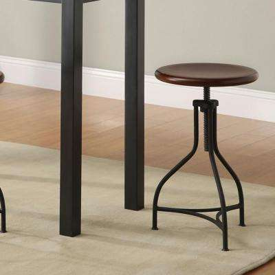 Logan Adjustable Height Black Bar Stool
