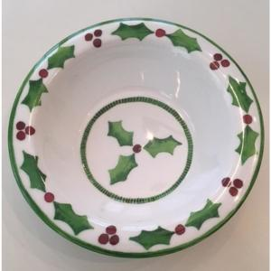 Holly Jolly Green/White Cereal Bowl (Set of 4)