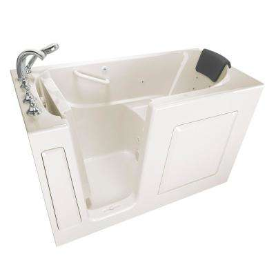 Gelcoat Premium Series 4.9 ft. Walk-In Whirlpool Bathtub in Linen