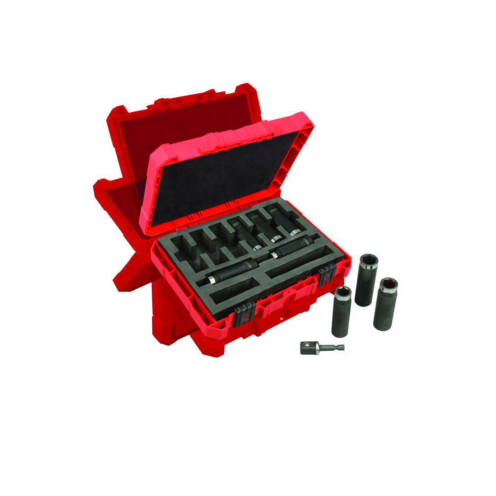 Milwaukee 1/2 in. Drive SAE Shockwave Impact Duty Deep Well Socket Set (9-Piece)