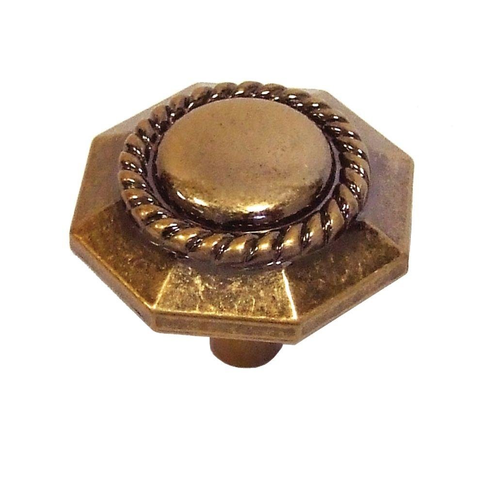 Ravel 1-3/16 in. Antique Rose Gold Cabinet Knob