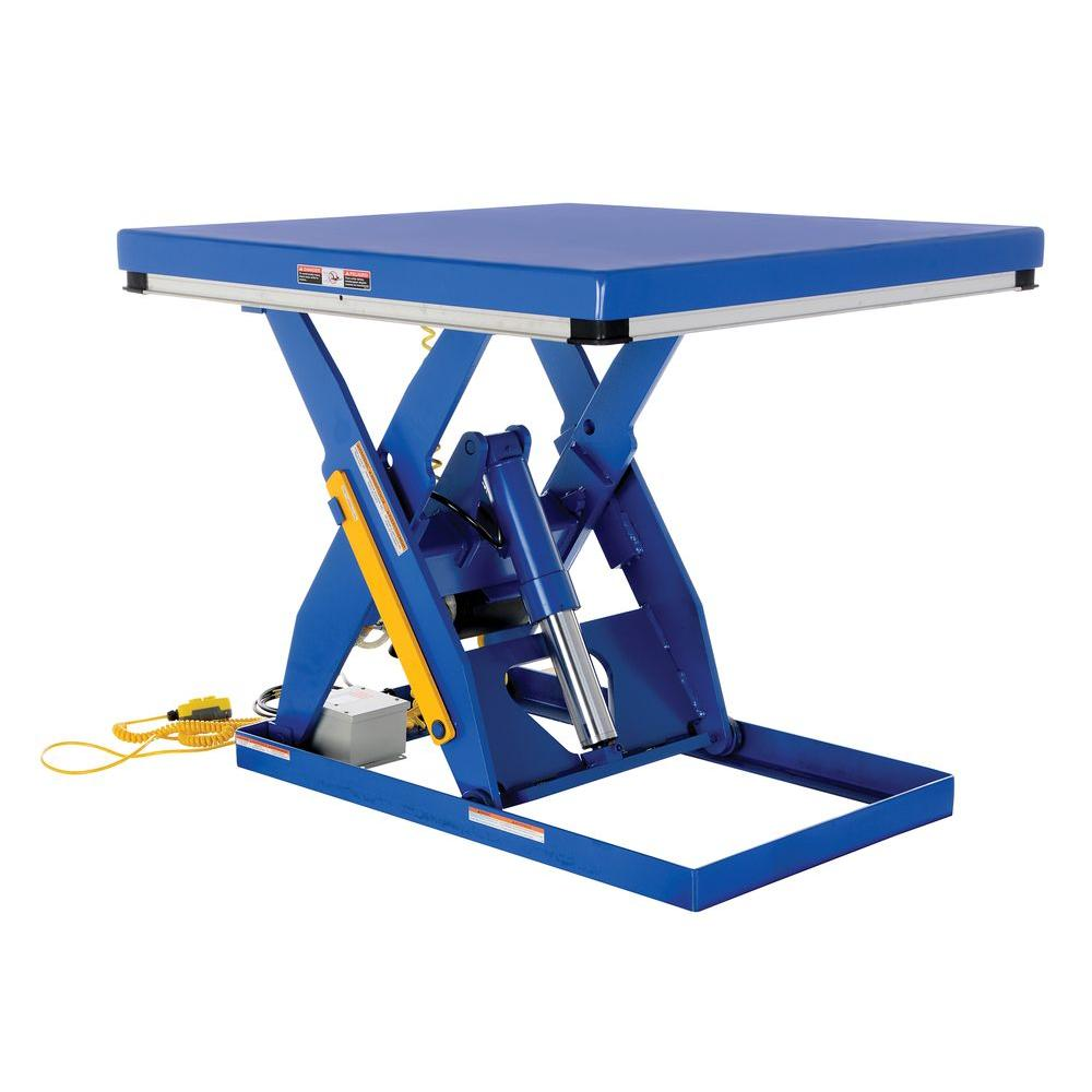 Vestil 4,000 lb  48 in  x 48 in  Electric Hydraulic Scissor Lift Table