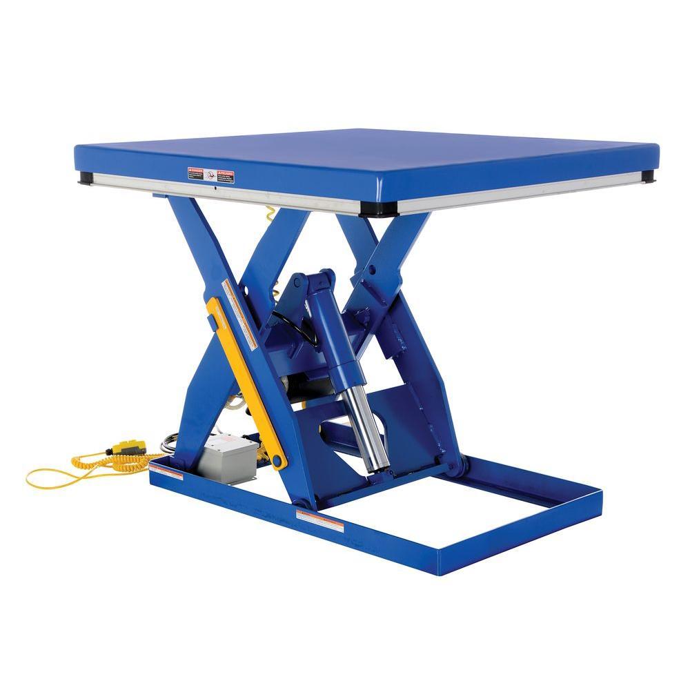 4,000 lb. 48 in. x 48 in. Electric Hydraulic Scissor Lift Table