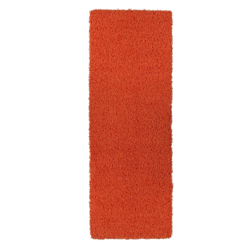 Sweet Home Stores Cozy Shag Collection Orange 3 ft. x 8 ft. Contemporary Shag Runner Rug was $61.1 now $45.83 (25.0% off)