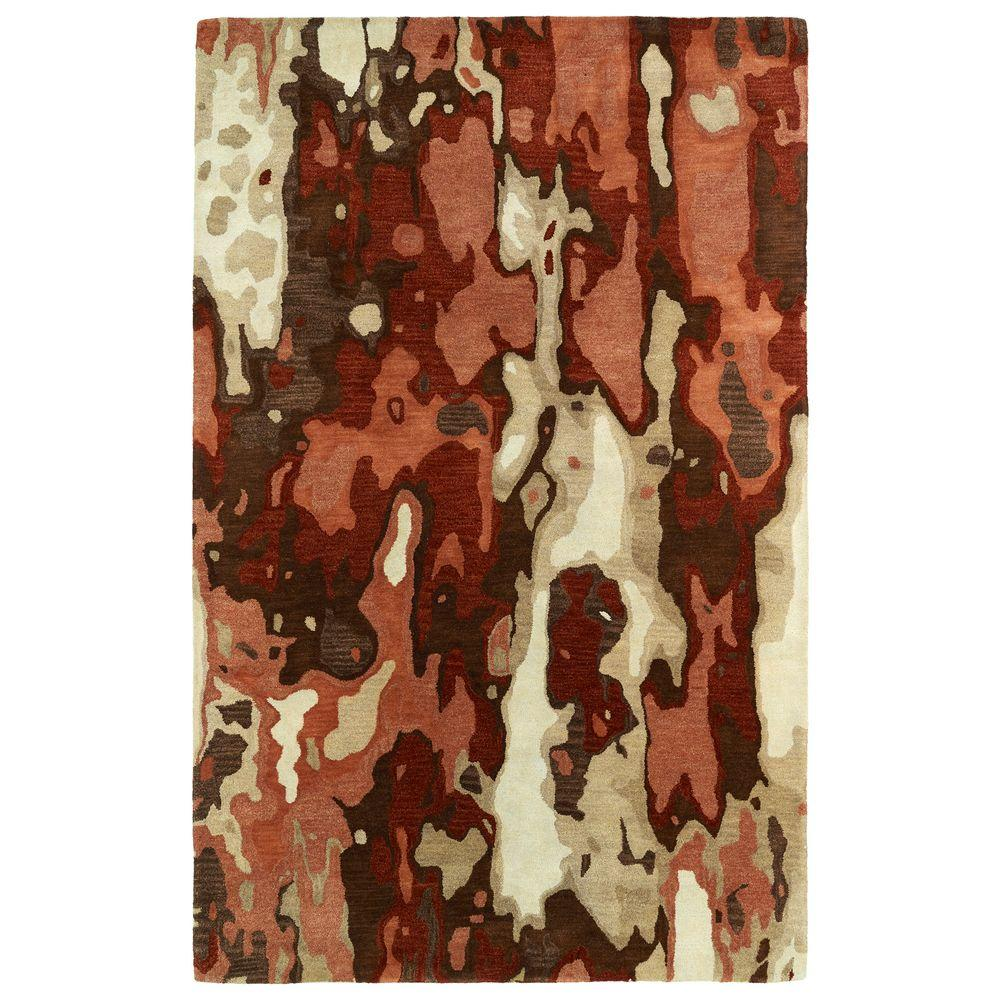 Brushstrokes Rust 3 ft. 6 in. x 5 ft. 6 in.