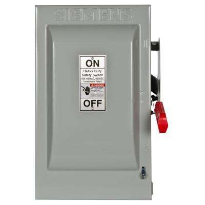 Heavy Duty 60 Amp 600-Volt 3-Pole Indoor Fusible Safety Switch